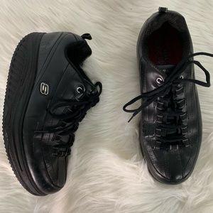 Skechers Black Shape Ups Comfort Shoes Size 9